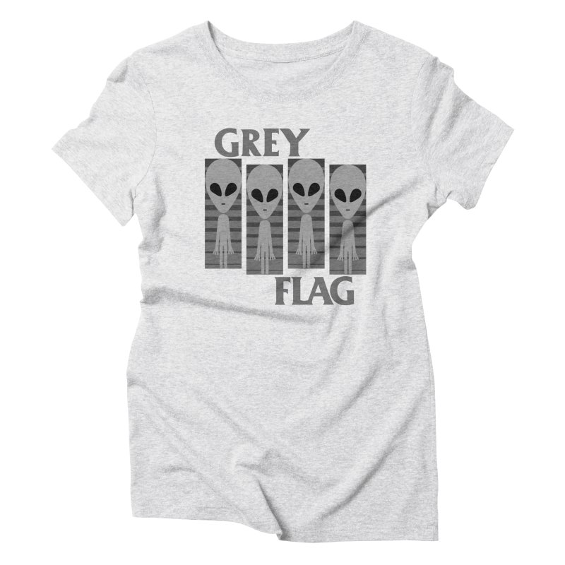 GREY FLAG Women's Triblend T-Shirt by SavageMonsters's Artist Shop