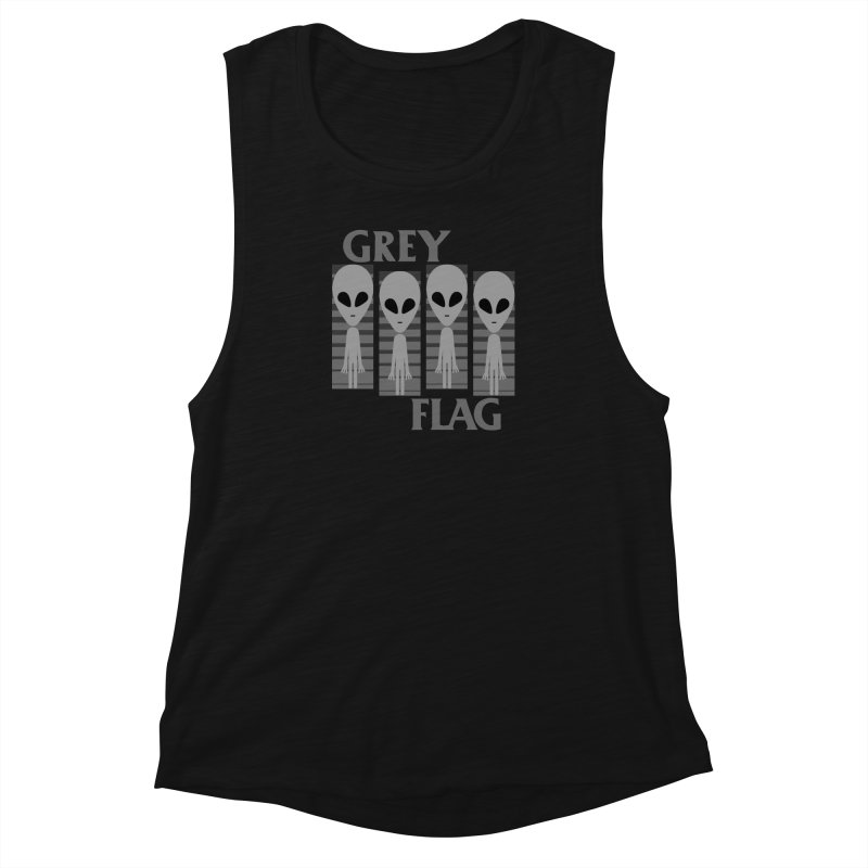 GREY FLAG Women's Muscle Tank by SavageMonsters's Artist Shop