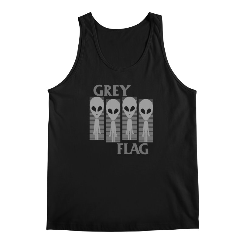 GREY FLAG Men's Regular Tank by SavageMonsters's Artist Shop
