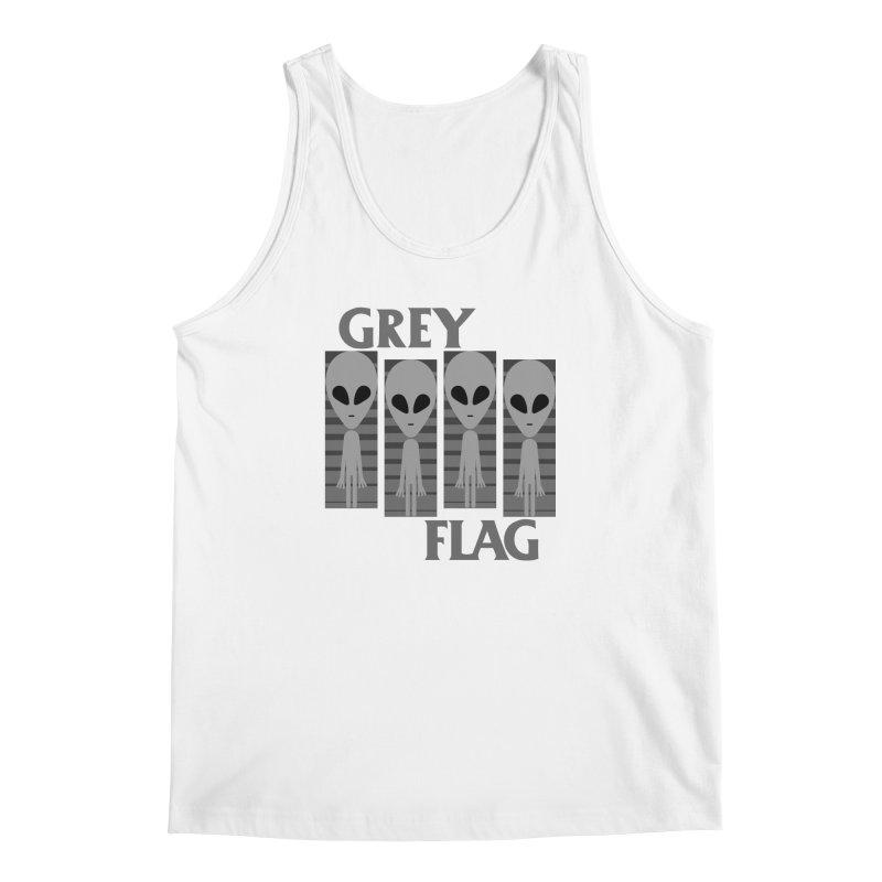 GREY FLAG Men's Regular Tank by SavageMonsters's Artist Shop