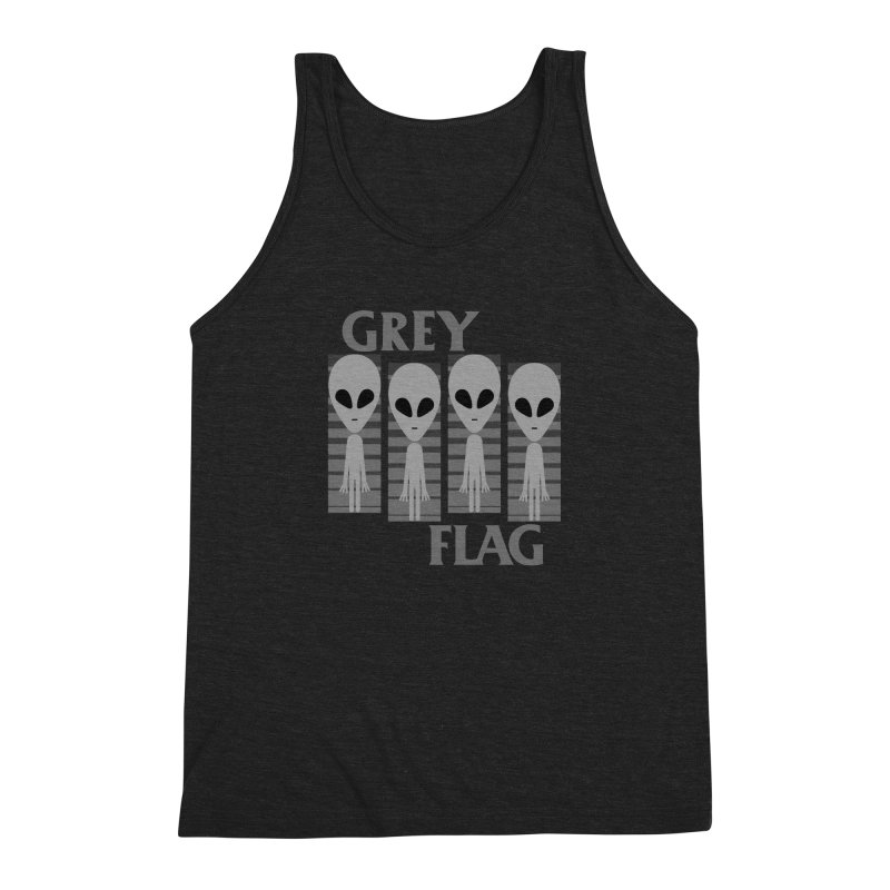 GREY FLAG Men's Triblend Tank by SavageMonsters's Artist Shop