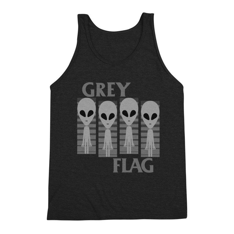 GREY FLAG Men's Triblend Tank by SavageMonsters's Artist Shop