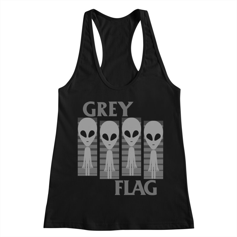 GREY FLAG Women's Racerback Tank by SavageMonsters's Artist Shop