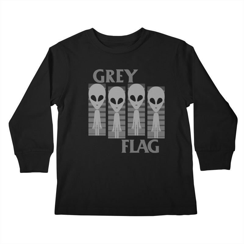 GREY FLAG Kids Longsleeve T-Shirt by SavageMonsters's Artist Shop