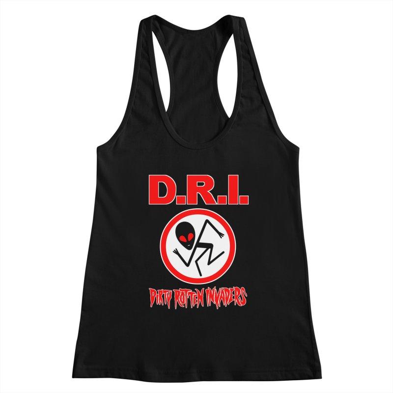 Dirty Rotten Invaders Women's Racerback Tank by SavageMonsters's Artist Shop