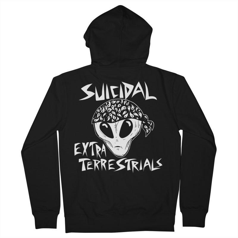 Suicidal Extra Terrestrials Men's Zip-Up Hoody by SavageMonsters's Artist Shop