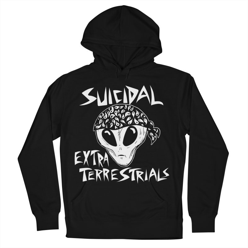 Suicidal Extra Terrestrials Men's French Terry Pullover Hoody by SavageMonsters's Artist Shop
