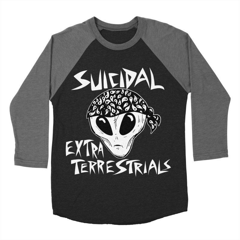 Suicidal Extra Terrestrials Men's Baseball Triblend T-Shirt by SavageMonsters's Artist Shop