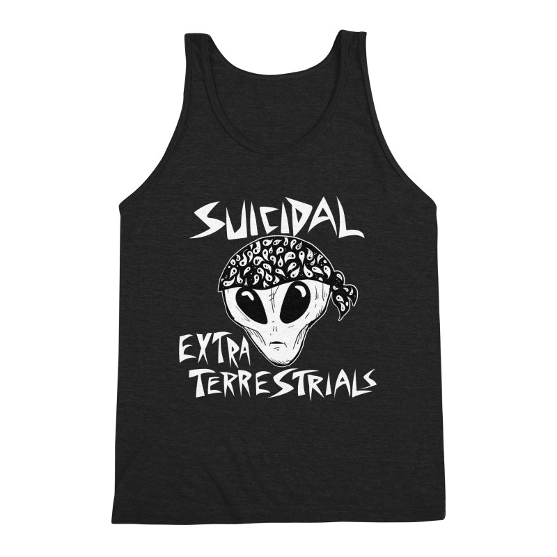 Suicidal Extra Terrestrials Men's Triblend Tank by SavageMonsters's Artist Shop