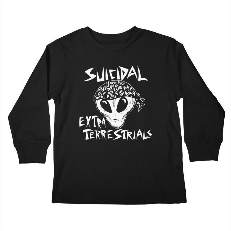 Suicidal Extra Terrestrials Kids Longsleeve T-Shirt by SavageMonsters's Artist Shop