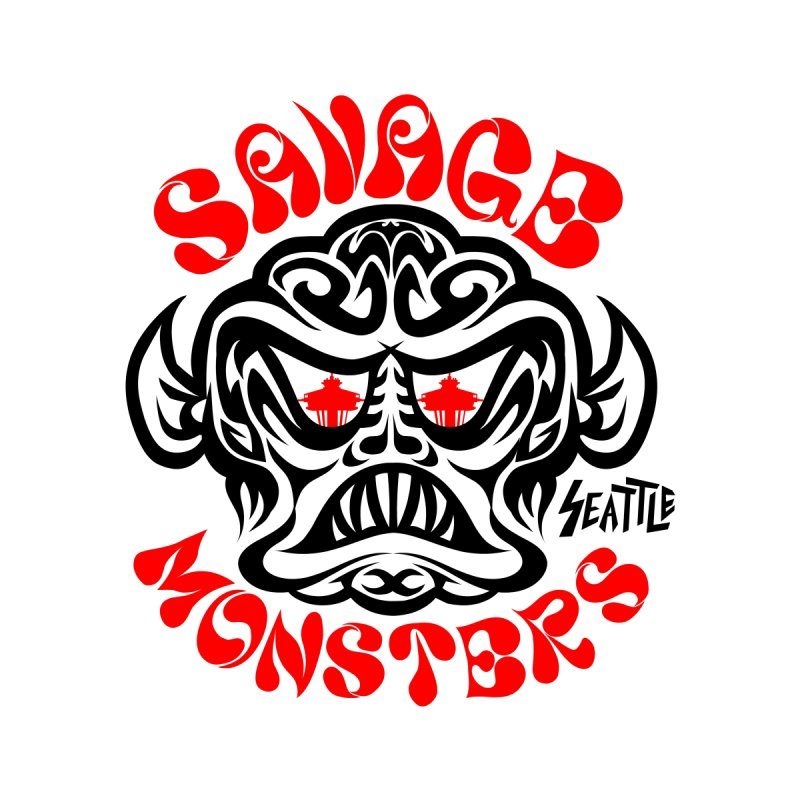 Savage Monsters Seattle Chapter Women's Longsleeve T-Shirt by SavageMonsters's Artist Shop