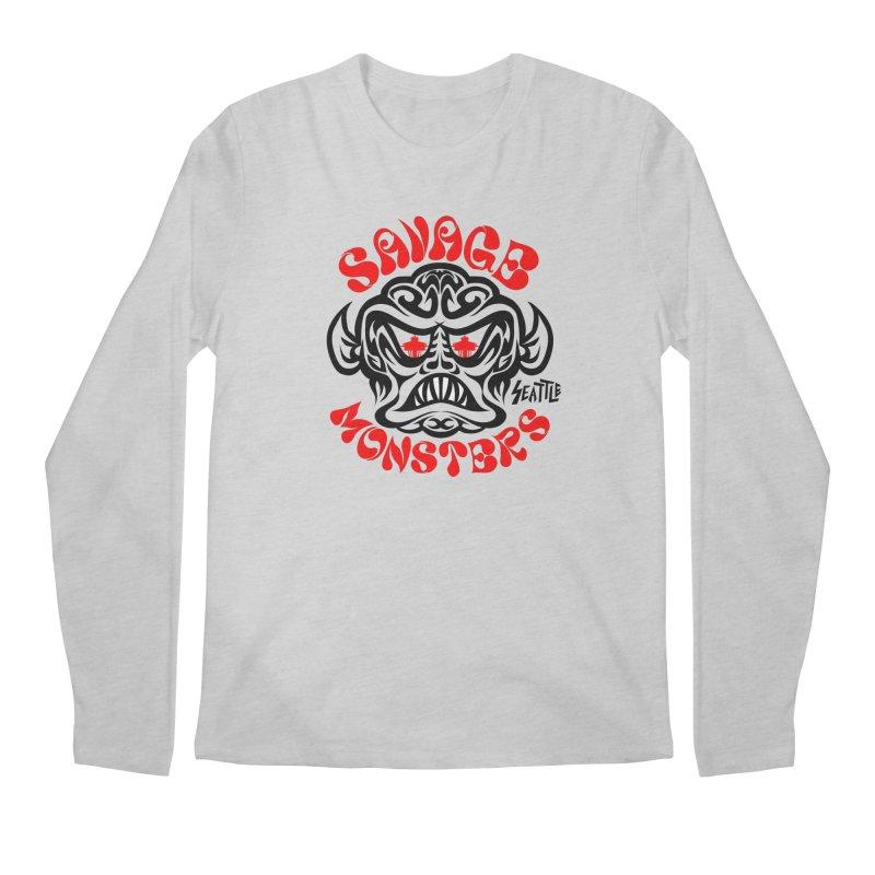 Savage Monsters Seattle Chapter Men's Longsleeve T-Shirt by SavageMonsters's Artist Shop