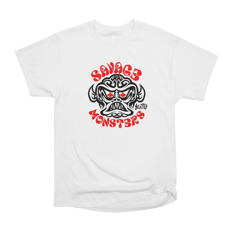 Savage Monsters Seattle Chapter Women's Heavyweight Unisex T-Shirt by SavageMonsters's Artist Shop