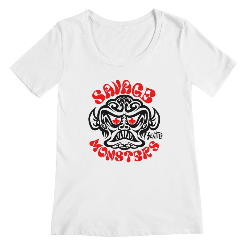 Savage Monsters Seattle Chapter Women's Regular Scoop Neck by SavageMonsters's Artist Shop