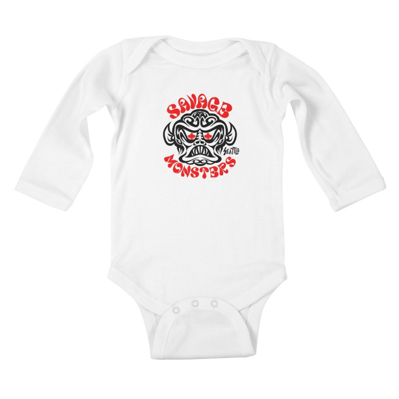 Savage Monsters Seattle Chapter Kids Baby Longsleeve Bodysuit by SavageMonsters's Artist Shop