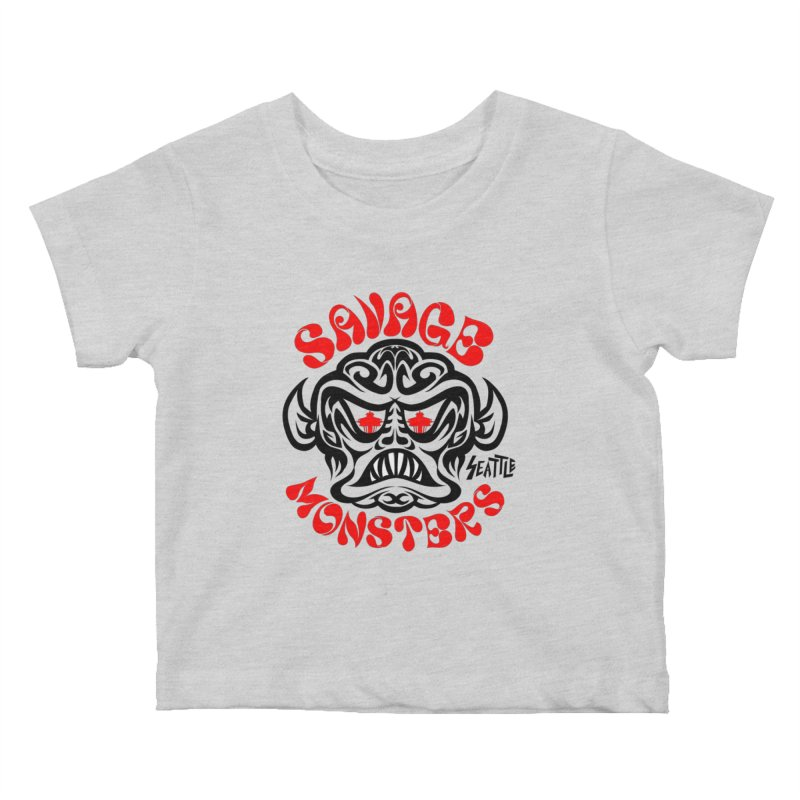 Savage Monsters Seattle Chapter Kids Baby T-Shirt by SavageMonsters's Artist Shop