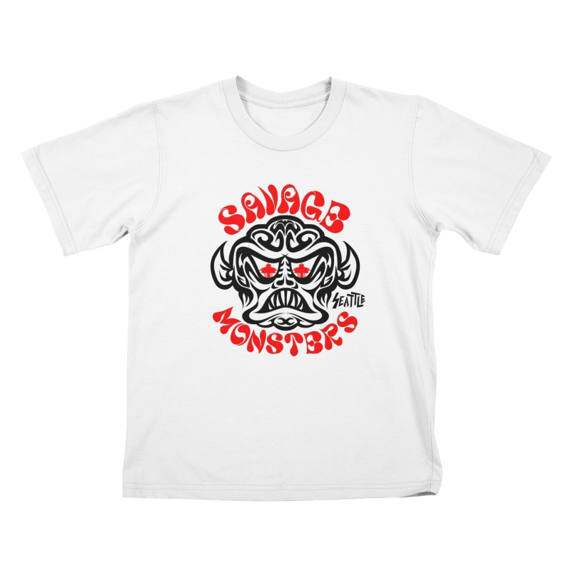 Savage Monsters Seattle Chapter Kids Toddler T-Shirt by SavageMonsters's Artist Shop