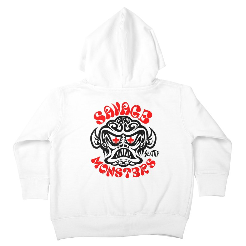 Savage Monsters Seattle Chapter Kids Toddler Zip-Up Hoody by SavageMonsters's Artist Shop