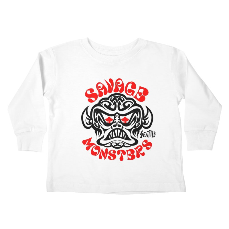 Savage Monsters Seattle Chapter Kids Toddler Longsleeve T-Shirt by SavageMonsters's Artist Shop