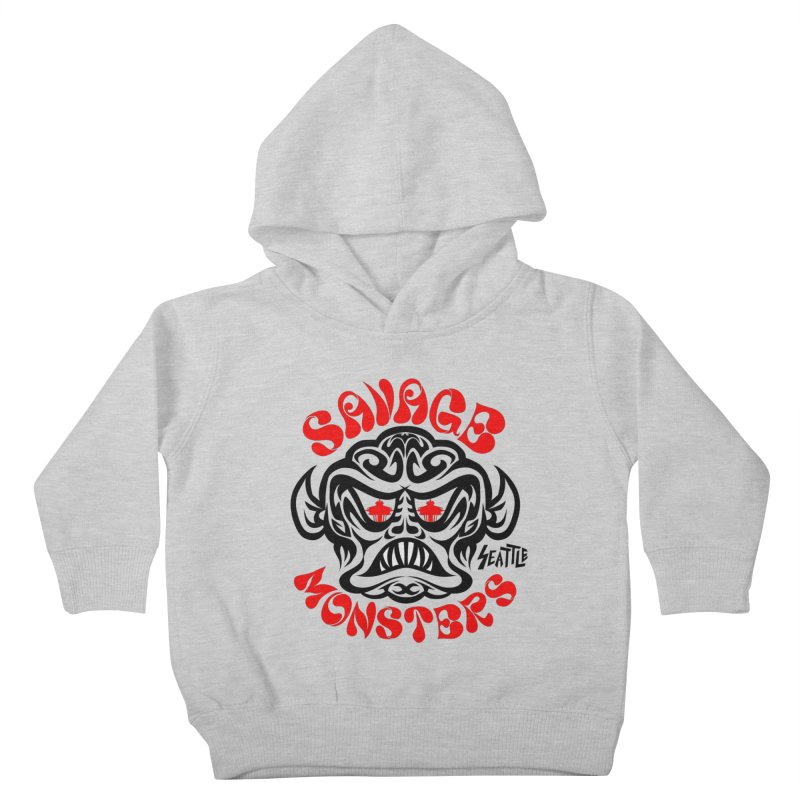 Savage Monsters Seattle Chapter Kids Toddler Pullover Hoody by SavageMonsters's Artist Shop
