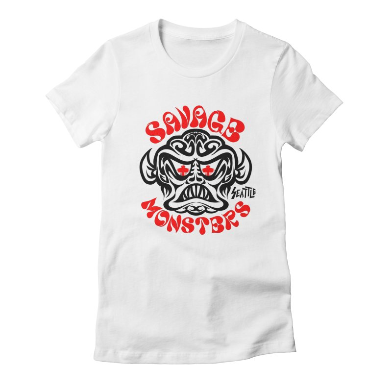 Savage Monsters Seattle Chapter Women's Fitted T-Shirt by SavageMonsters's Artist Shop
