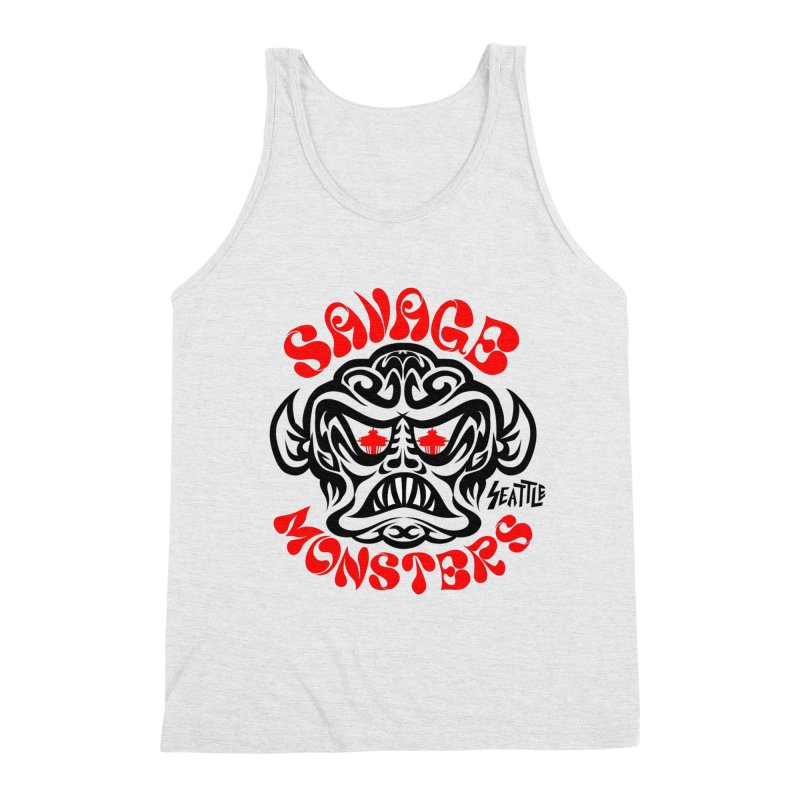 Savage Monsters Seattle Chapter Men's Triblend Tank by SavageMonsters's Artist Shop