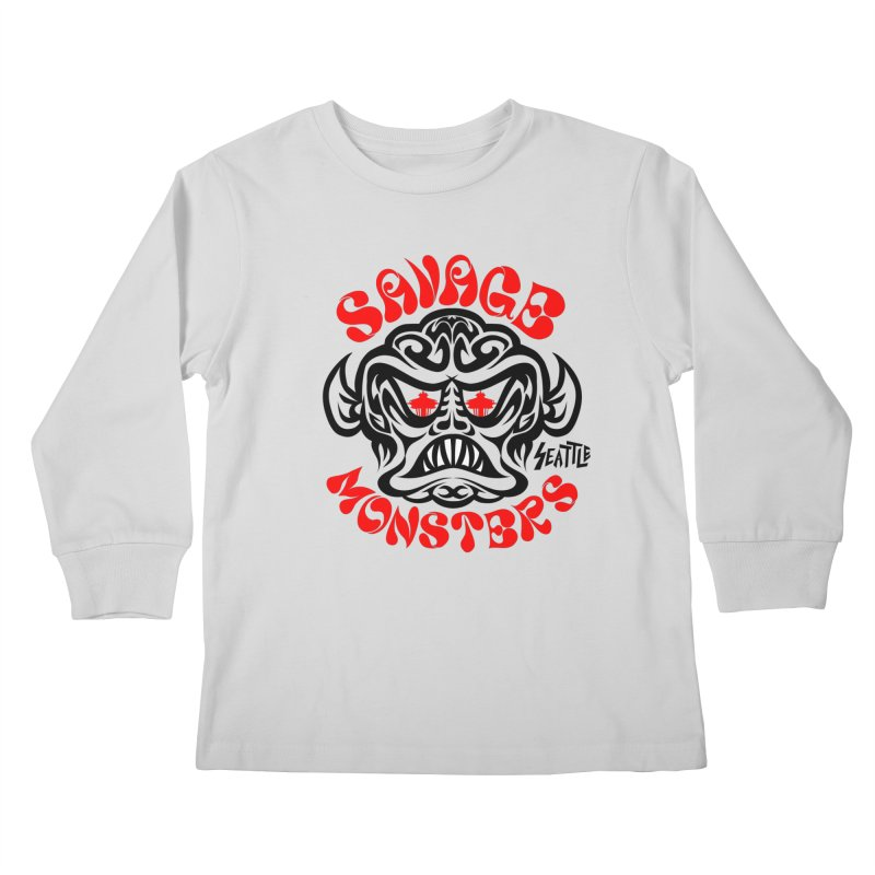 Savage Monsters Seattle Chapter Kids Longsleeve T-Shirt by SavageMonsters's Artist Shop