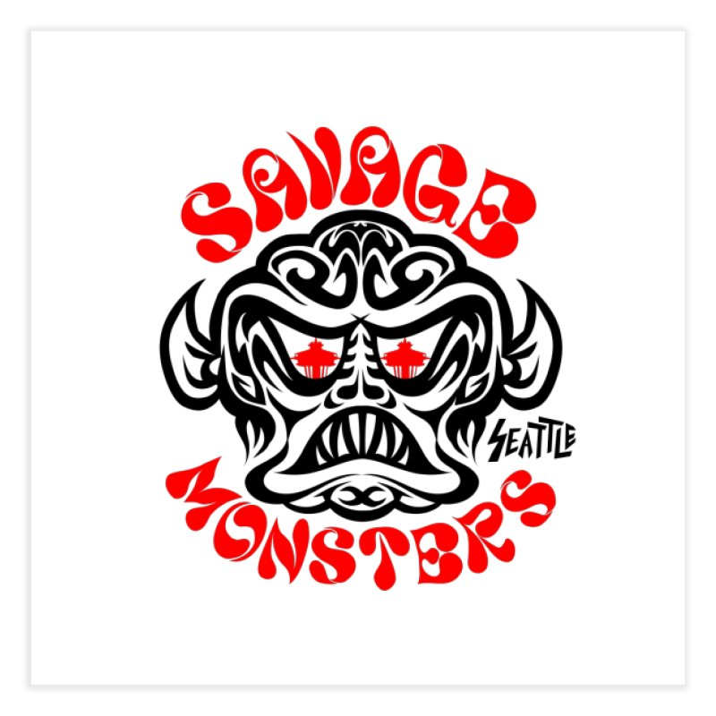 Savage Monsters Seattle Chapter Home Fine Art Print by SavageMonsters's Artist Shop
