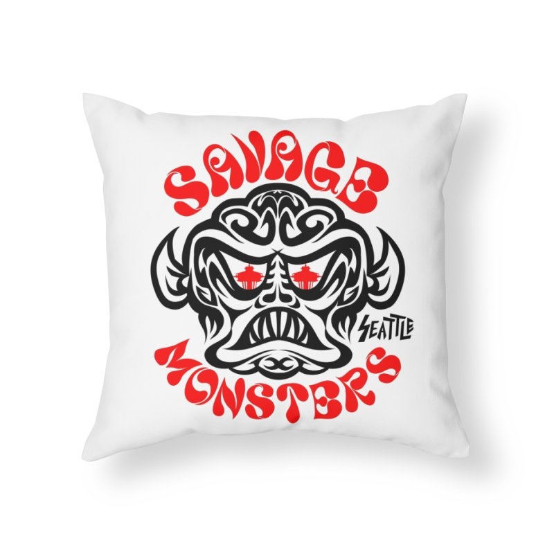 Savage Monsters Seattle Chapter Home Throw Pillow by SavageMonsters's Artist Shop