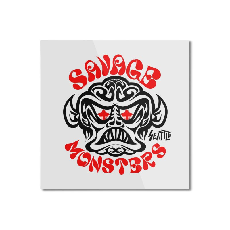 Savage Monsters Seattle Chapter Home Mounted Aluminum Print by SavageMonsters's Artist Shop
