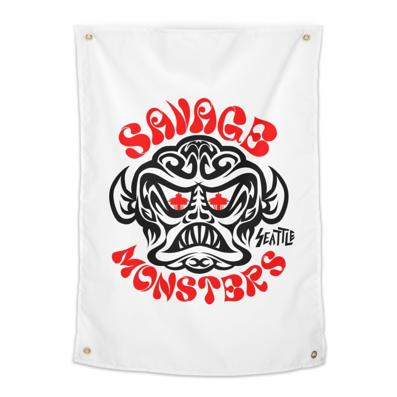 Savage Monsters Seattle Chapter Home Tapestry by SavageMonsters's Artist Shop
