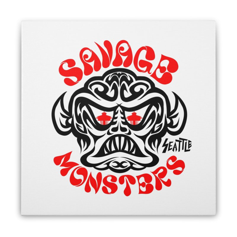Savage Monsters Seattle Chapter Home Stretched Canvas by SavageMonsters's Artist Shop