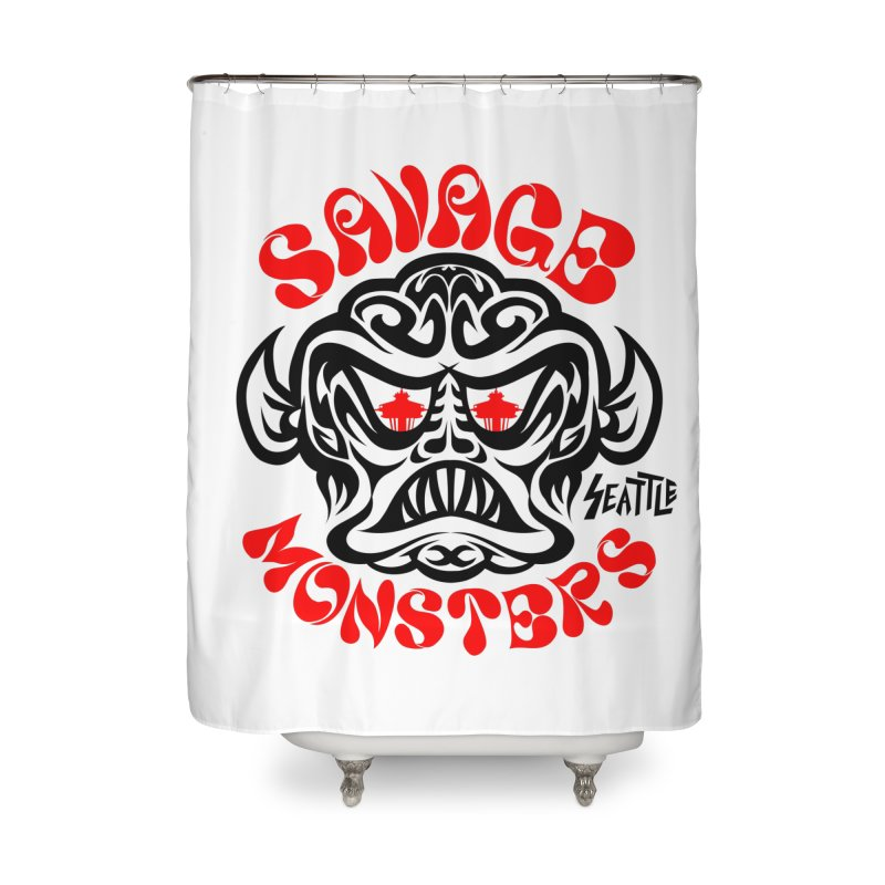 Savage Monsters Seattle Chapter Home Shower Curtain by SavageMonsters's Artist Shop