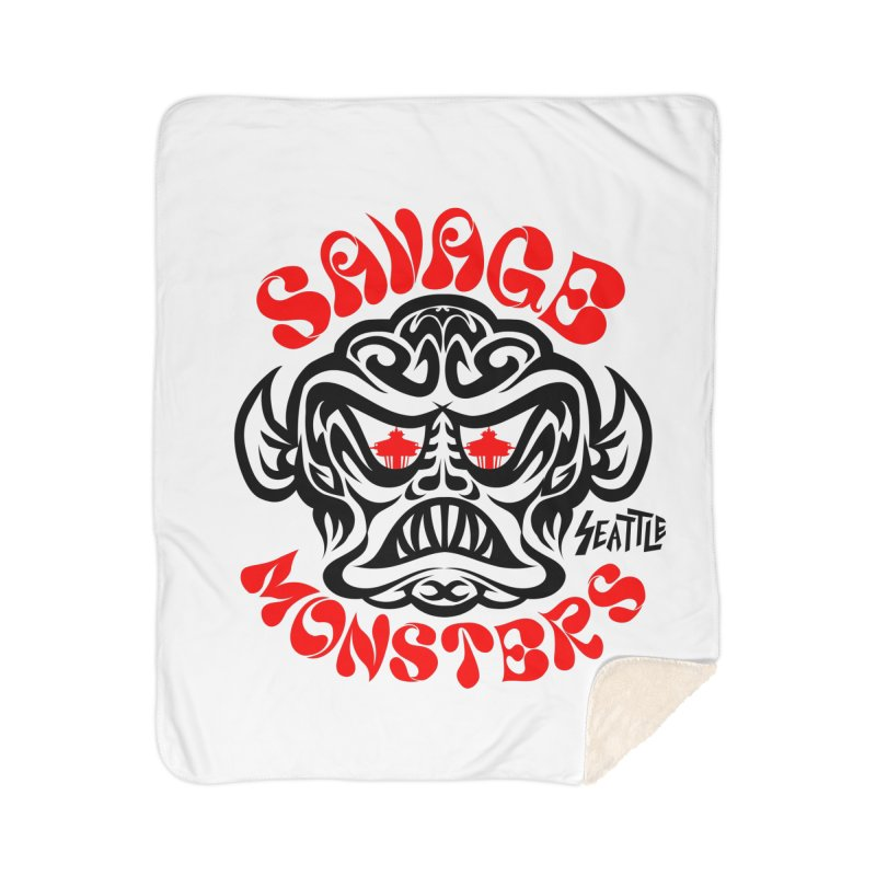 Savage Monsters Seattle Chapter Home Sherpa Blanket Blanket by SavageMonsters's Artist Shop
