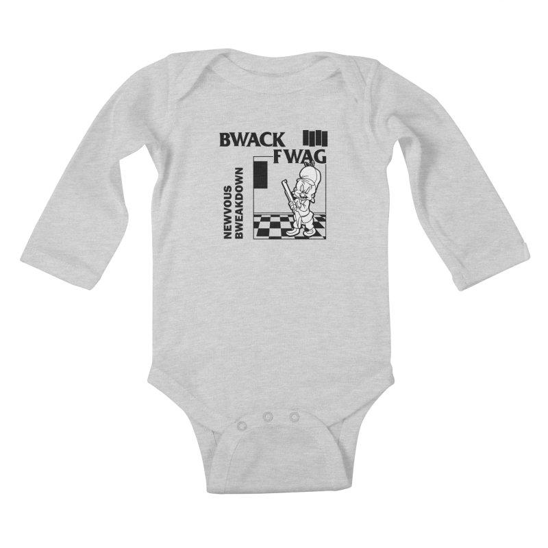Bwack Fwag Kids Baby Longsleeve Bodysuit by SavageMonsters's Artist Shop