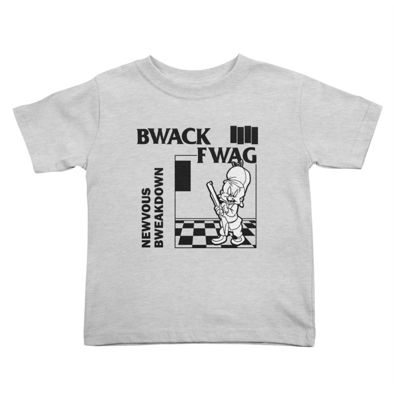 Bwack Fwag Kids Toddler T-Shirt by SavageMonsters's Artist Shop