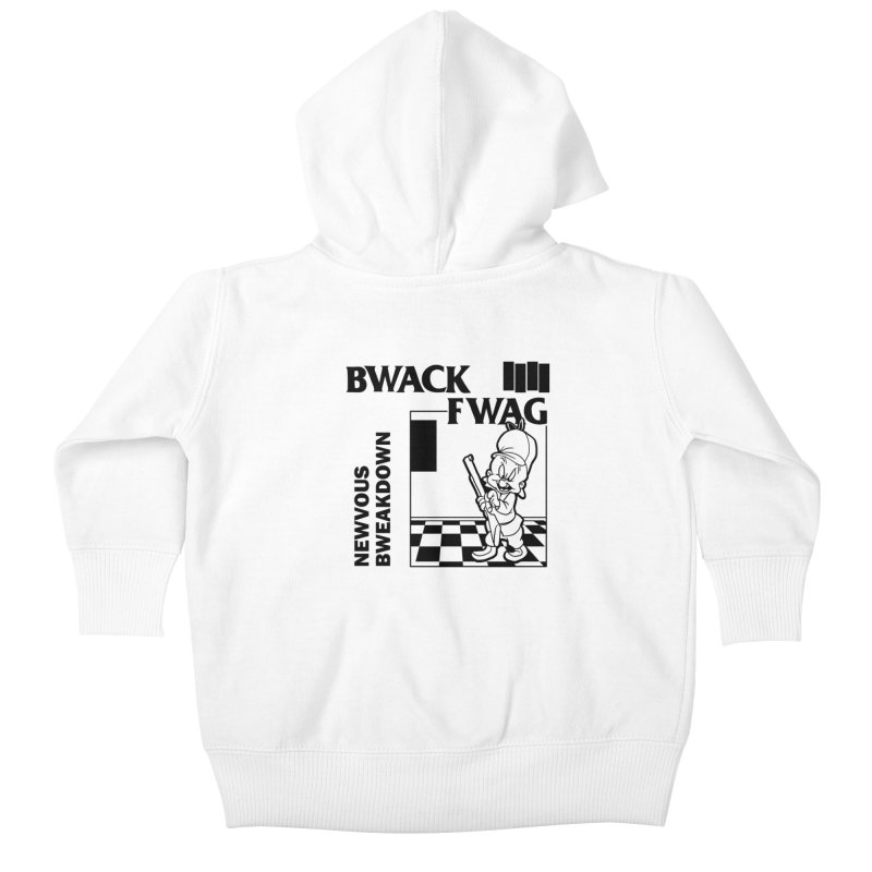 Bwack Fwag Kids Baby Zip-Up Hoody by SavageMonsters's Artist Shop
