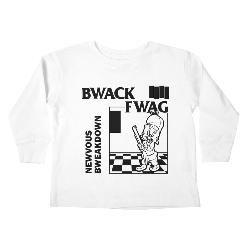 Bwack Fwag Kids Toddler Longsleeve T-Shirt by SavageMonsters's Artist Shop