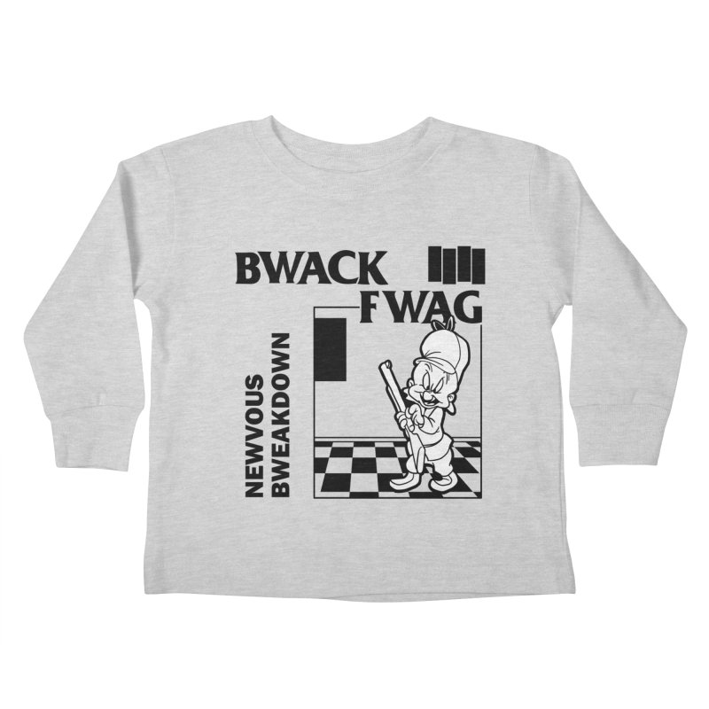 Bwack Fwag Kids Toddler Longsleeve T-Shirt by SavageMonsters's Artist Shop
