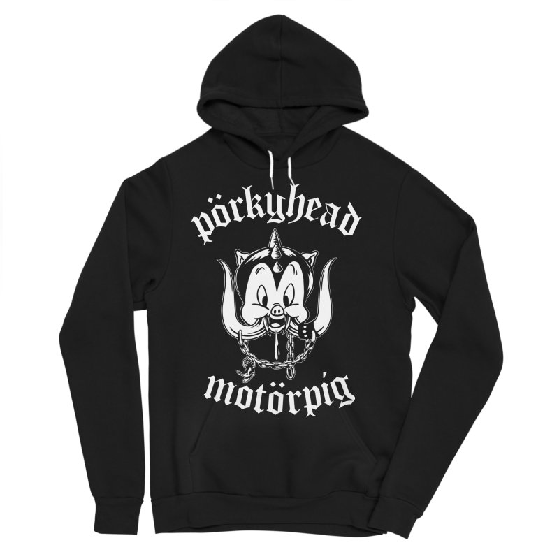 Pörkyhead Motörpig Men's Sponge Fleece Pullover Hoody by SavageMonsters's Artist Shop