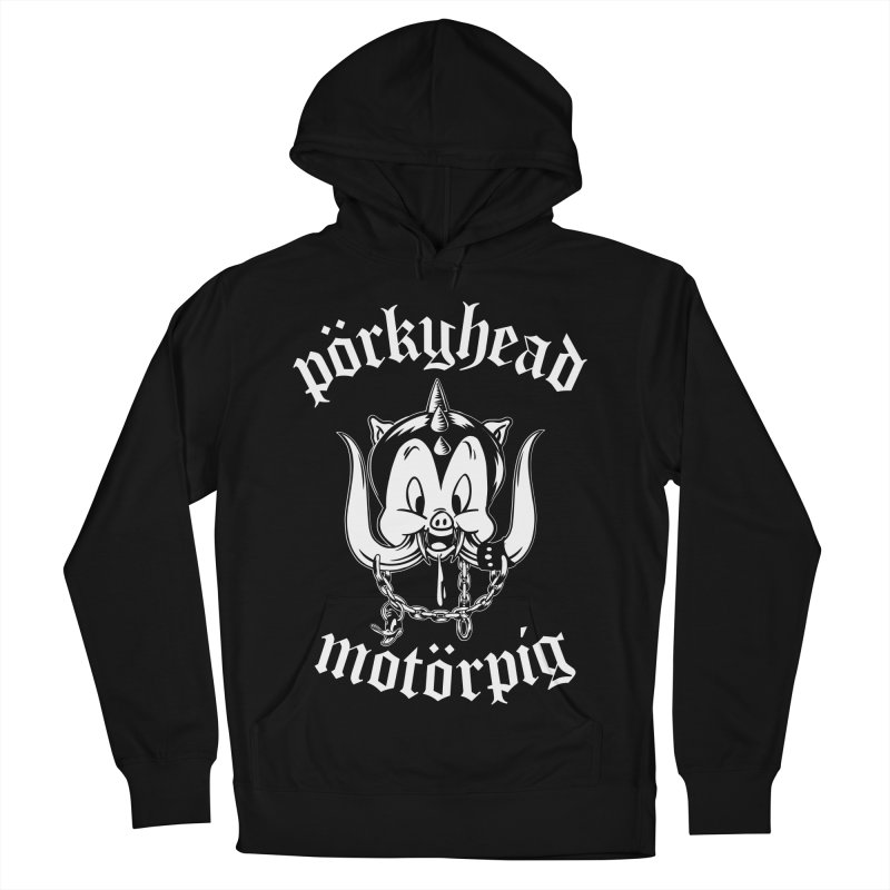 Pörkyhead Motörpig Men's French Terry Pullover Hoody by SavageMonsters's Artist Shop