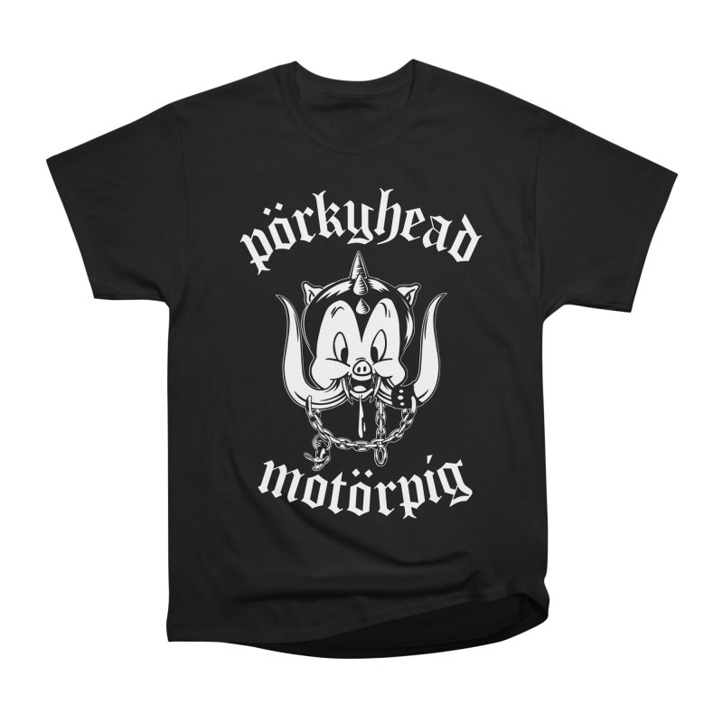Pörkyhead Motörpig Men's Heavyweight T-Shirt by SavageMonsters's Artist Shop