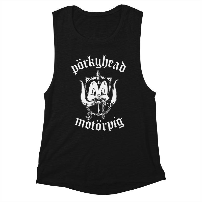 Pörkyhead Motörpig Women's Muscle Tank by SavageMonsters's Artist Shop