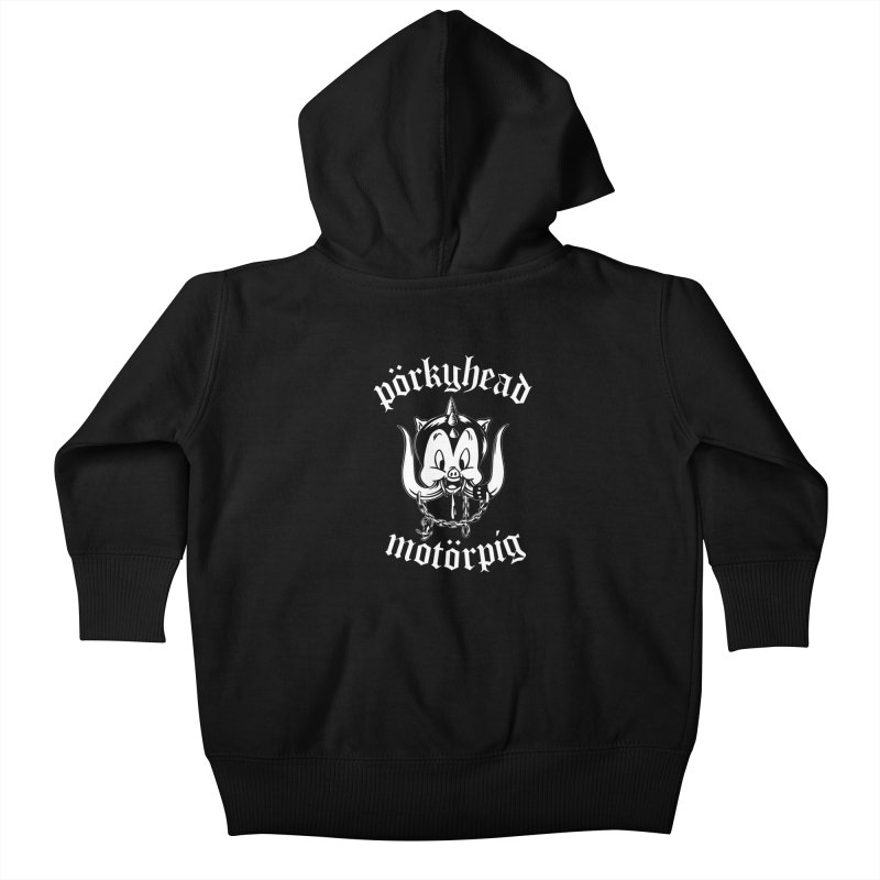 Pörkyhead Motörpig Kids Baby Zip-Up Hoody by SavageMonsters's Artist Shop