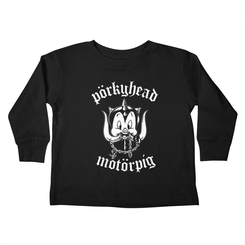 Pörkyhead Motörpig Kids Toddler Longsleeve T-Shirt by SavageMonsters's Artist Shop