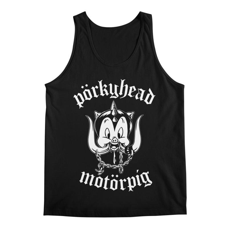Pörkyhead Motörpig Men's Regular Tank by SavageMonsters's Artist Shop