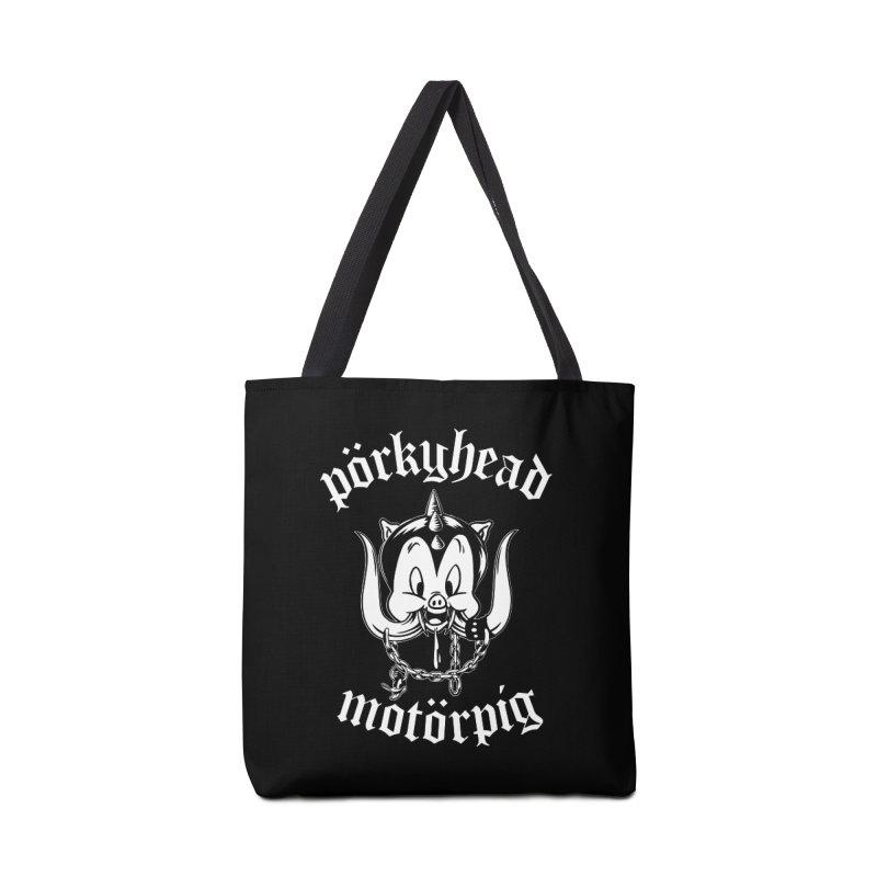 Pörkyhead Motörpig Accessories Tote Bag Bag by SavageMonsters's Artist Shop