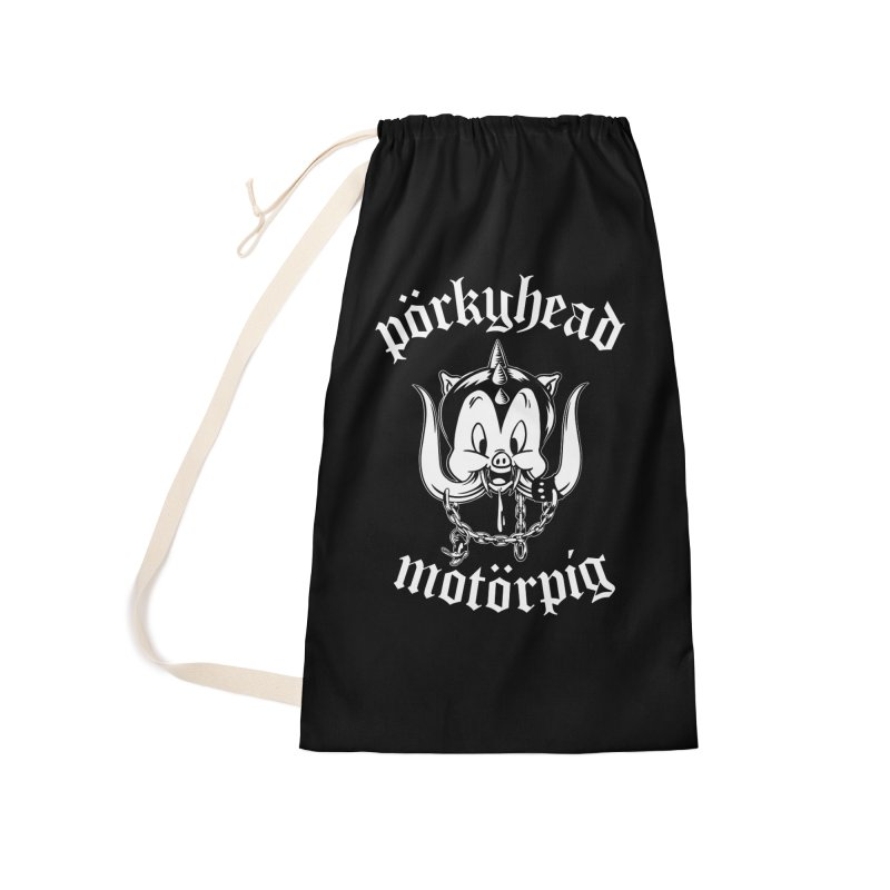 Pörkyhead Motörpig Accessories Laundry Bag Bag by SavageMonsters's Artist Shop