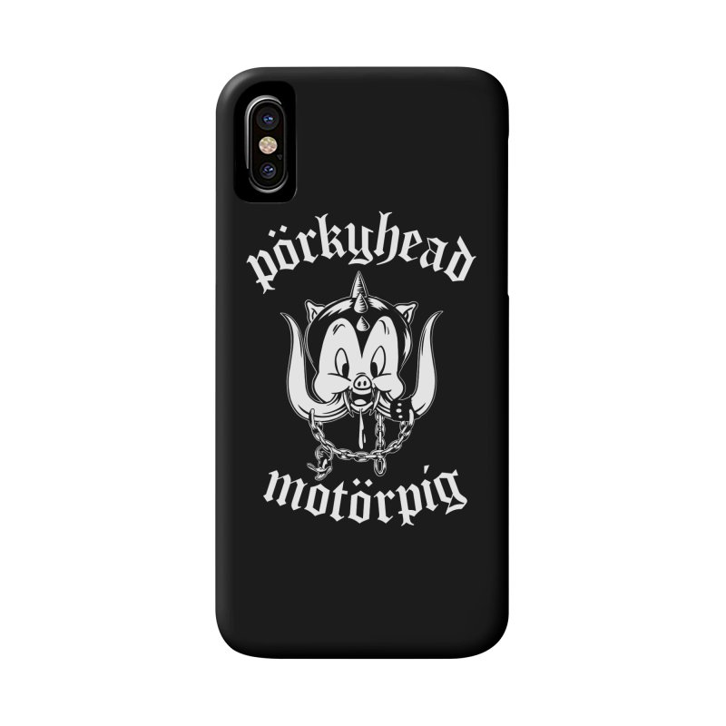 Pörkyhead Motörpig Accessories Phone Case by SavageMonsters's Artist Shop