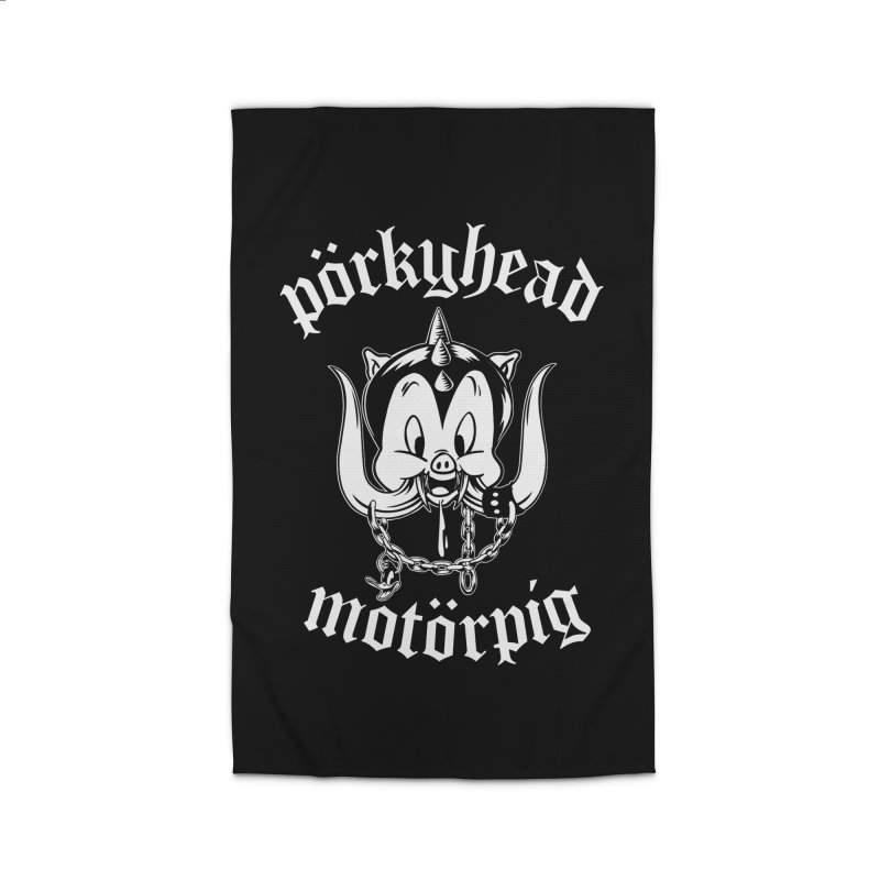 Pörkyhead Motörpig Home Rug by SavageMonsters's Artist Shop